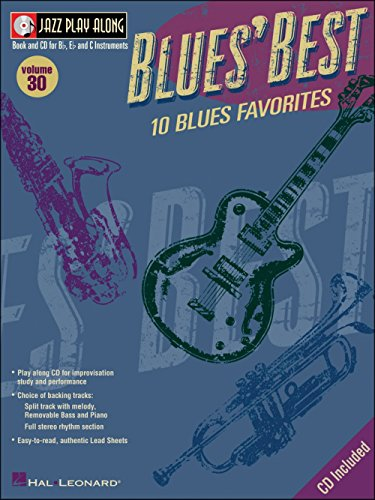 JAZZ PLAY ALONG VOLUME 30: BLUES BEST  PARTITURAS  CD PARA INSTRUMENTOS EN MI  INSTRUMENTOS EN SI  INSTRUMENTOS EN DO  INSTRUMENTOS EN CLAVE DE FA