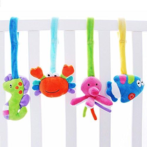 SHILOH Baby Activity Spiral Wrap Around Crib Bed Bassinet Stroller Rail Toy Sea Animals