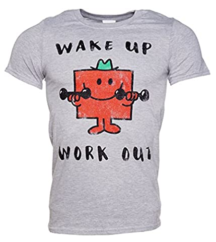 Mens Mr Strong Wake Up Work Out Mr Men T