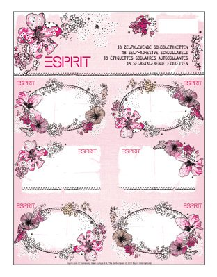 Esprit Buchetiketten 18 St pro Packung (0,22 Euro / St) - Namensetiketten - Jahr-etiketten