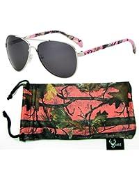 Hornz Camuflaje del Rosa polarizados Gafas de Aviador para Las Mujeres y Que Coinciden con Bolsa