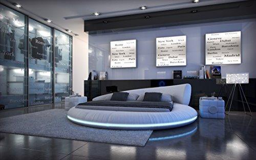 cama completa Cama Redonda Mezzo LED+Colchón+somier