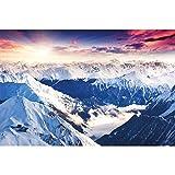 great-art XXL Poster Alpen Panorama Gebirge - Ausblick
