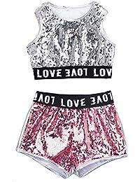 LOLANTA Set di Vestiti per la Danza della Scuola di Costumi da Danza Hip-Hop