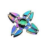 #8: Shopaholic Furious Rainbow Colorful Finger Spinner Brass Hand Fingertips Gyro EDC Torque Gyro Fidget Spinner 70mm 3.5Min