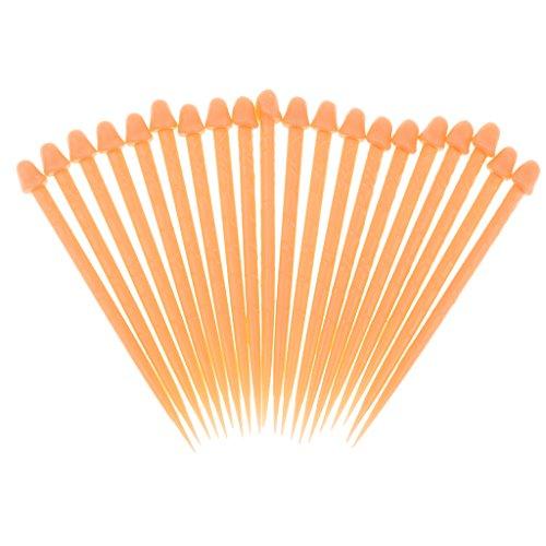 Packung Von 20 Kunststoff Penis Requisiten Zahnstocher Für Knifflige Tag Halloween Narr
