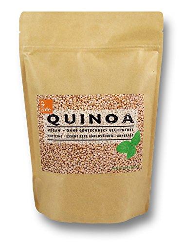 """Quinoa Samen weiß 1kg """"ChiaDE"""" Eiweißquelle als Alternative zu tierischen Quellen"""
