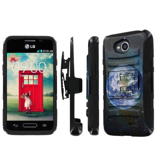 NakedShield LG Optimus L90 NakedShield LG Optimus L70 (Earth) Combat Tough Holster Kickstand Armor Phone Case