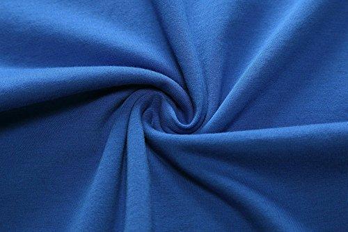Damen Ärmelloses Einfarbig Strandkleid Sommerkleid Tank Kleid Ausgestelltes Trägerkleid Knielang Blau