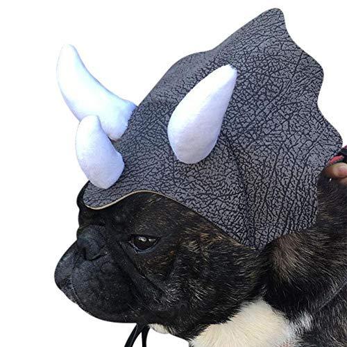 Kostüm Triceratops Katze - Boern Sweathose Hund Latzhose Hundehut Katze Kopfbedeckung Haustier Hundehut Cosplay Interessantes Hundekatze-Kostüm Halloween-Kostüme Hund Perücke Triceratops Modellierung Comfort fit