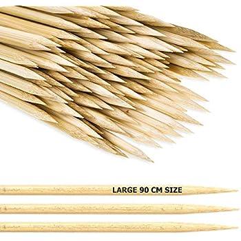 E 90Cm Bambusstäbe Für Stockbrot Usw Rawford 100Er Set Lagerfeuer Spieße