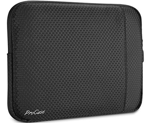 Funda Compacta para Tableta 9.7 – 10.5 Pulgadas, ProCase Bolsa Protectora Blanda para iPad 9.7 / iPad Pro 11 / iPad Pro 10.5 / iPad Pro 9.7 / iPad Air 2 Air 1 / iPad 2 3 4 / Samsung Galaxy Tablets 10.1 Pulgadas -Negro