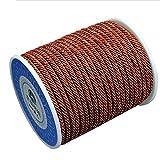 DIY925 My-Bead Nylonband geflochten 16.5m Kordel 3mm rot braun Bordeaux Premium Qualität für die Schmuckherstellung