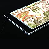 Aibecy Leuchttisch, A4 LED Leuchtkasten, Ultra Dünn Leuchtplatte, Leuchtrahmen Copy Board mit EU Ladegerät für Handwerk Animations Malerei (16.5 Zoll, 35.2 x 24cm, 100-240V)