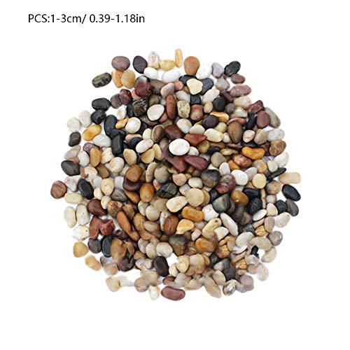 liuxi Aquarium Gravel River Rock, natürlicher polierter dekorativer Kies, kleine dekorative Kieselsteine, gemischte Farbsteine für Aquarien, Landschaftsgestaltung, Vasenfüller (River-aquarium)