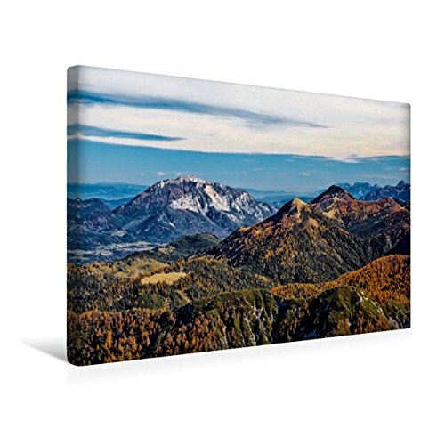Premium Textil-Leinwand 45 cm x 30 cm quer, Blick vom Gartnerkofel   Wandbild, Bild auf Keilrahmen, Fertigbild auf echter Leinwand, Leinwanddruck (CALVENDO Natur)