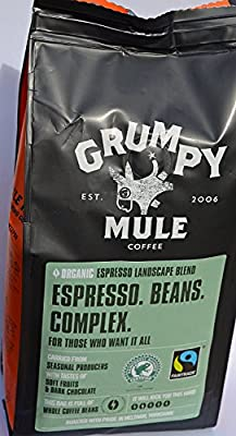 Grumpy Mule Organic Espresso Whole Bean Coffee 227 g (Pack of 3)