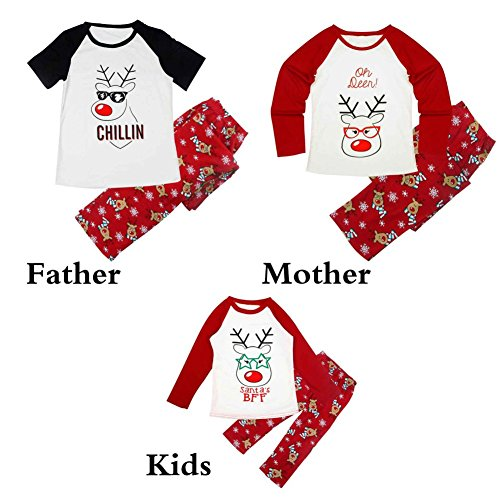 Weihnachten Pyjamas Familie Kleidung passende Mutter Tochter Vater Sohn Kleidung Sets niedlich Nachtwäsche von (Kostüme Die Besten Mutter Und Sohn)