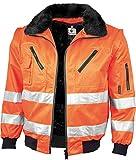 Qualitex Warnschutz Pilotenjacke gelb oder orange (S, warnorange)
