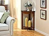 Lingyun- Moderne Mode Wohnzimmer Schlafzimmer Pergolen aus Holz Eckablage Ecke Regal Storage Rack ( Farbe : Walnut Farbe )