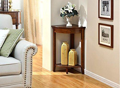 flashing lights- Moderne Mode Wohnzimmer Schlafzimmer Pergolen aus Holz Eckablage Ecke Regal Storage Rack ( farbe : Walnut Farbe )