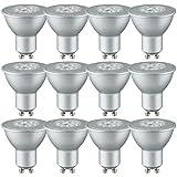 Brice LED Reflektor Leuchtmittel GU10 2,5W = 20W Halogenersatz 130lm warmweiß 2700K 36° (12 Stück)