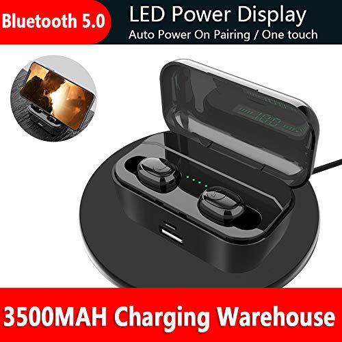 DANGSHUO Auriculares inalámbricos Bluetooth 5.0 con IPX7 Hi-Fi Cancelador de Ruido a Prueba de Sonido estéreo con micrófono Incorporado para Deportes