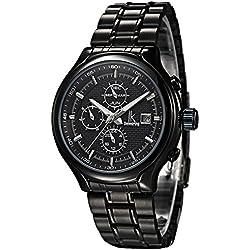 Alienwork IK Automatic Watch Self-winding Multi-function Mechanical Metal black black 98186-01
