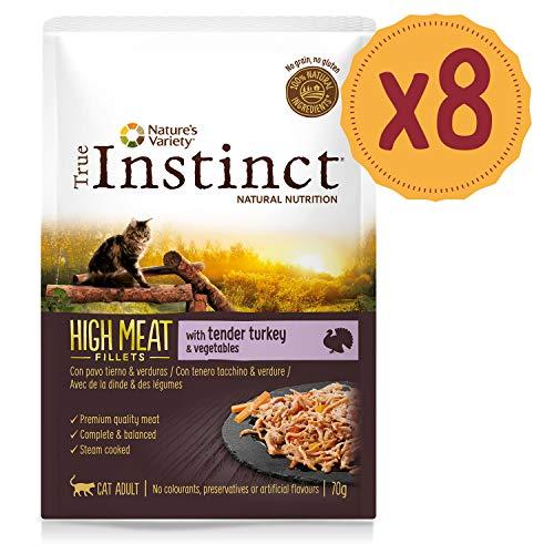 True Instinct High Meat Pack de 8 Fillets avec Dinde/Légumes pour Chat 70 g