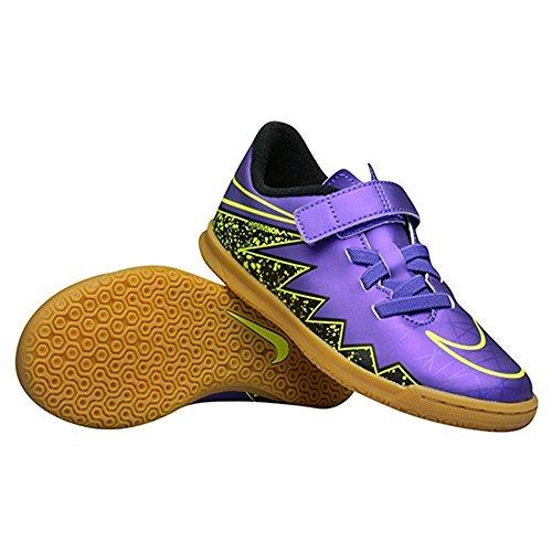 Nike Jr Hypervenom Phade Ii (V) Ic, Chaussures de Football Garçon Violet / Noir / Vert (Hyper Grape / Hypr Grape-Blk-VLT)