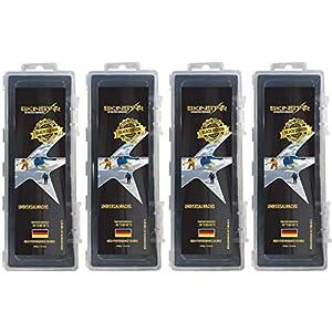 SkinStar Black Edition Universal Skiwachs Rennwachs Ski und Langlauf Wachs Ski Wax 1000g