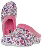 Beppi Rosa Clogs für Damen - Warm Gefütterte Hausschuhe mit Fell - Größe 39