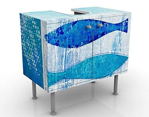 Apalis design vanity fish in the blue 60x 55x 35cm, piccolo, largo 60cm, regolabile, lavandino, lavabo, rubinetto per lavabo da bagno, armadio, unità di base, bagno, narrow, flat