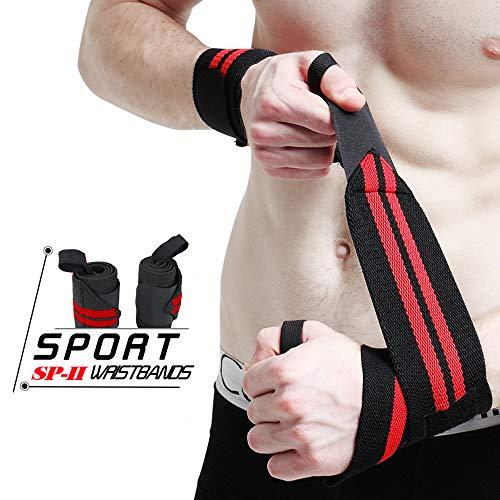 WeyTy Handgelenk Bandagen, 2-er Handgelenkstütze Wrist Wraps Kraftsport, Bodybuilding, Powerlifting, Crossfit & Fitness - Für Frauen & Männer geeignet Hand gelenkschutz (1) -
