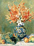 Cuadro de PVC 90 x 120 cm: Still Life with Fruit and Flowers de Pierre-Auguste Renoir