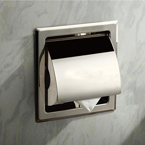 sdkky-embedded Edelstahl Toilettenpapierhalter, verdeckte in Wand-WC Papier Tissue Box