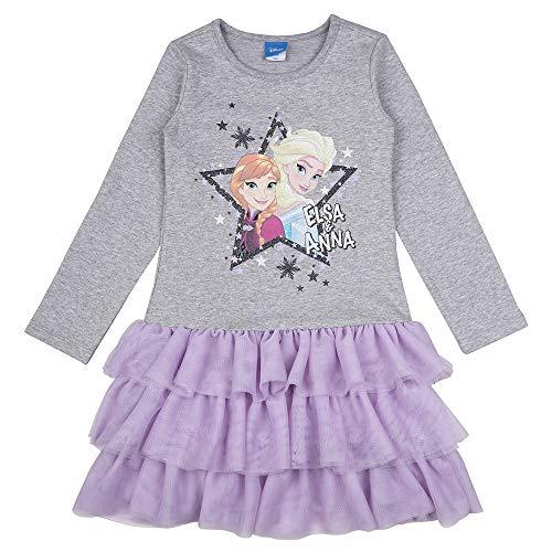Disney Mädchen Kleid Frozen Eiskönig ELSA und Anna 73656 (98, Lila/Grau)