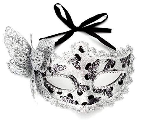 Inception Pro Infinite Venezianische Maske - Silberfarbe - Schmetterling - Frau - Glitter - Karneval - Halloween (Weiblichen 2019 Halloween-kostüme)