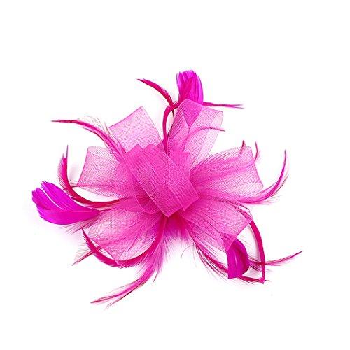 FORLADY Hanf-Garn-Haar-Zusatz-Feder-Kopf-Blumen-Ineinander greifen-Stirnband-wildes Kleid zeigen Braut-Kopfschmuck-Cocktail-Hut-Blumen-Haar-Klipp-Hut (Sommer Kleid Hüte Für Frauen)