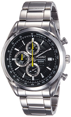 Seiko Analog Black Dial Men's Watch - SSB175P1
