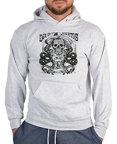 n Sweater Horror Dia de los Muertos Rock Halloween Totenkopf harte Kerle Hoody Sweater Kapuzen Sweatshirt (Dia De Los Muertos Kostüm Für Halloween)