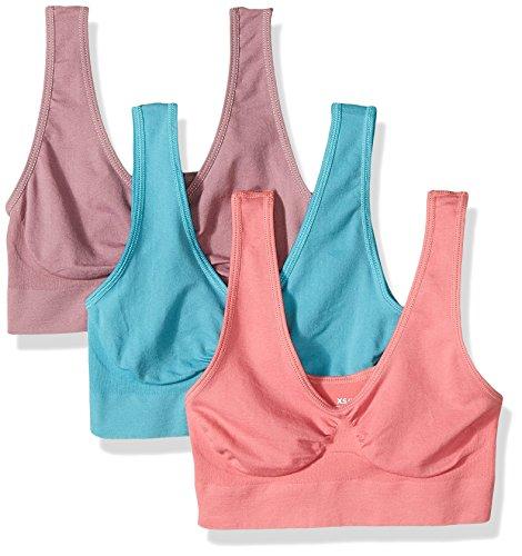 Comfortisse Damen BH (3er Pack), Damen, Pink/Purple/Teal, Small