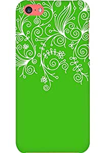 AMEZ designer printed 3d premium high quality back case cover for Apple iPhone 5C (green white design pattern abstract)