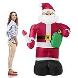 [lux.pro] Papá Noel hinchable con brazo móvil y LED brillantes - 193cm