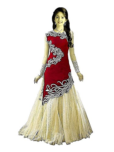 Dubai Creation Princess Baby Girls Birthday Party wear Red Velvet Semi-Stitched gown...