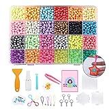 Joyibay 4000 Stück Kinder Wasserperlen Kit Magic Fuse Perle Klebrige Perle mit Zubehör