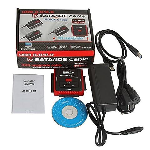 CABLING® Cable Adapter - USB 3.0 Adaptateur Lecteur Disque Dur Triple Port pour 2.5