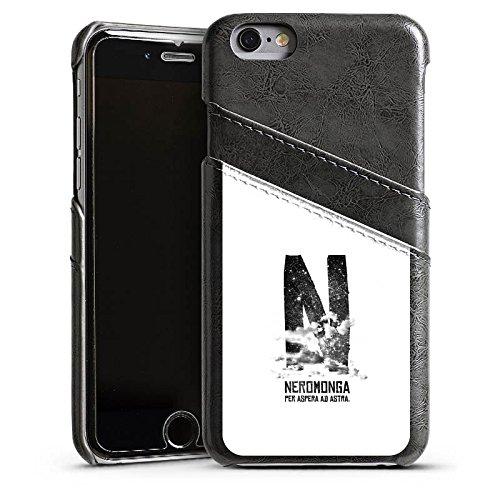 Apple iPhone 5s Housse Étui Protection Coque Nuages Noir Blanc Étui en cuir gris