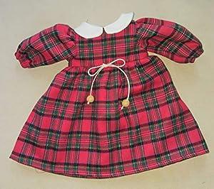 Sturm 2631-25 - Vestido de Cuadros para muñecas, Color Rojo
