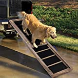 Multigot Telescopic Wooden Pet Ramp Car Ladder, Non-Slip Surface Potable Pets Step Stairs Ladders for Dogs Cats Indoor Outdoor Use